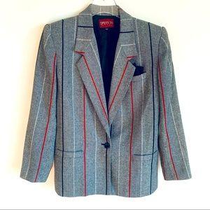 Vtg 80s SASSON striped blazer